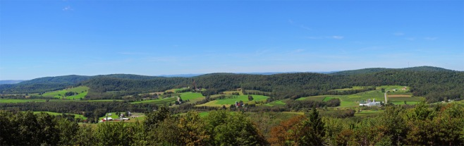 View of Farms in Garrett County, MD., from Rt. 219 Overlook