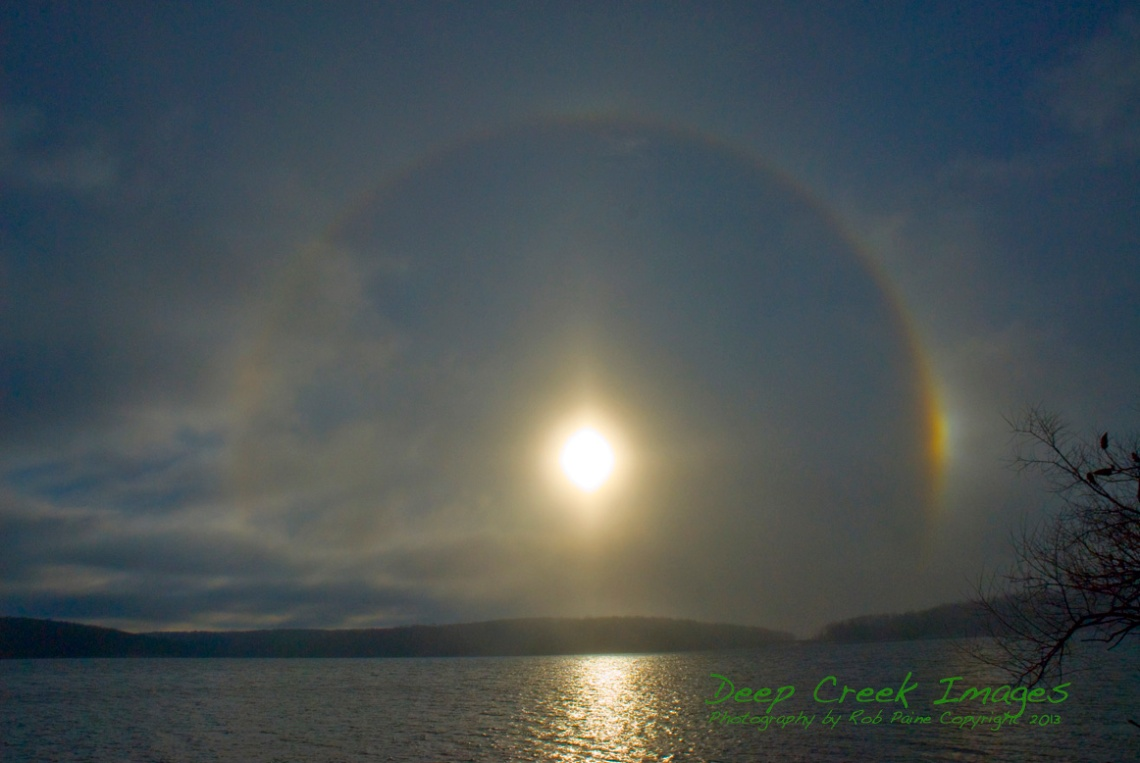 rob paine sun circle over deep creek lake copy