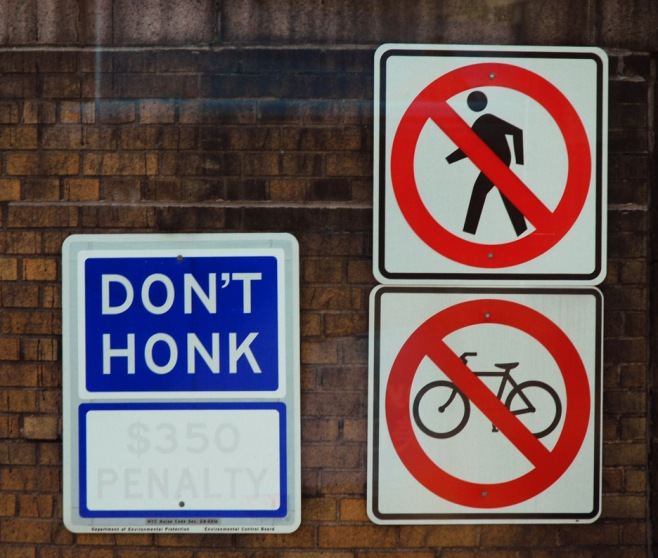web don't honk sign new york