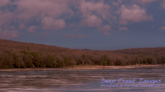 rob paine deep creek winter sky