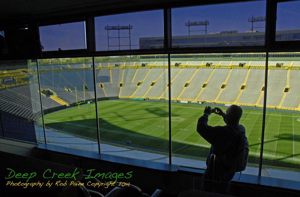 rob paine Lambeau Field Window