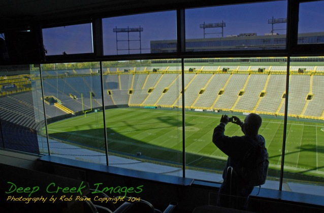 rob paine Lambeau Field Window