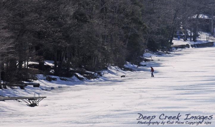 paine walking on deep creek lake
