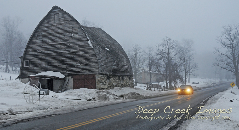 The Barn in Better Days  in January 2010