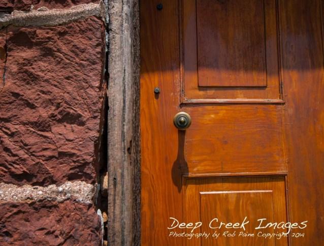 stone house door