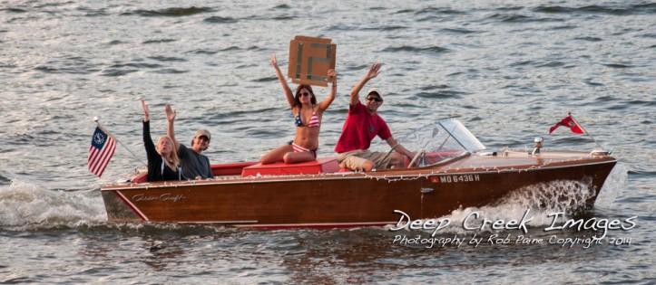 rob paine deep creek lake boat parade two.