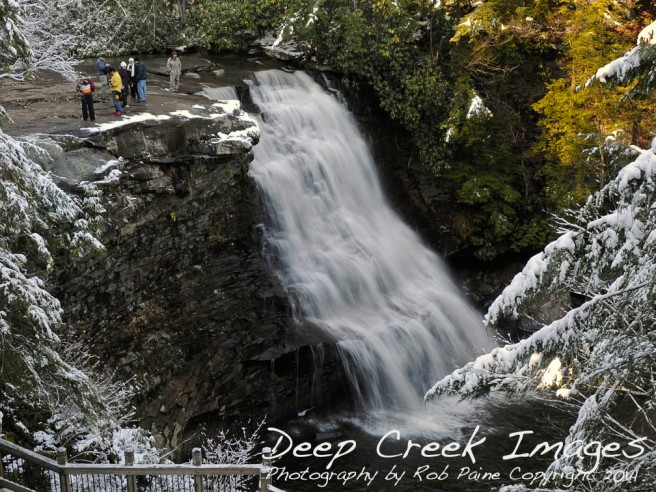 rob paine falls in winter