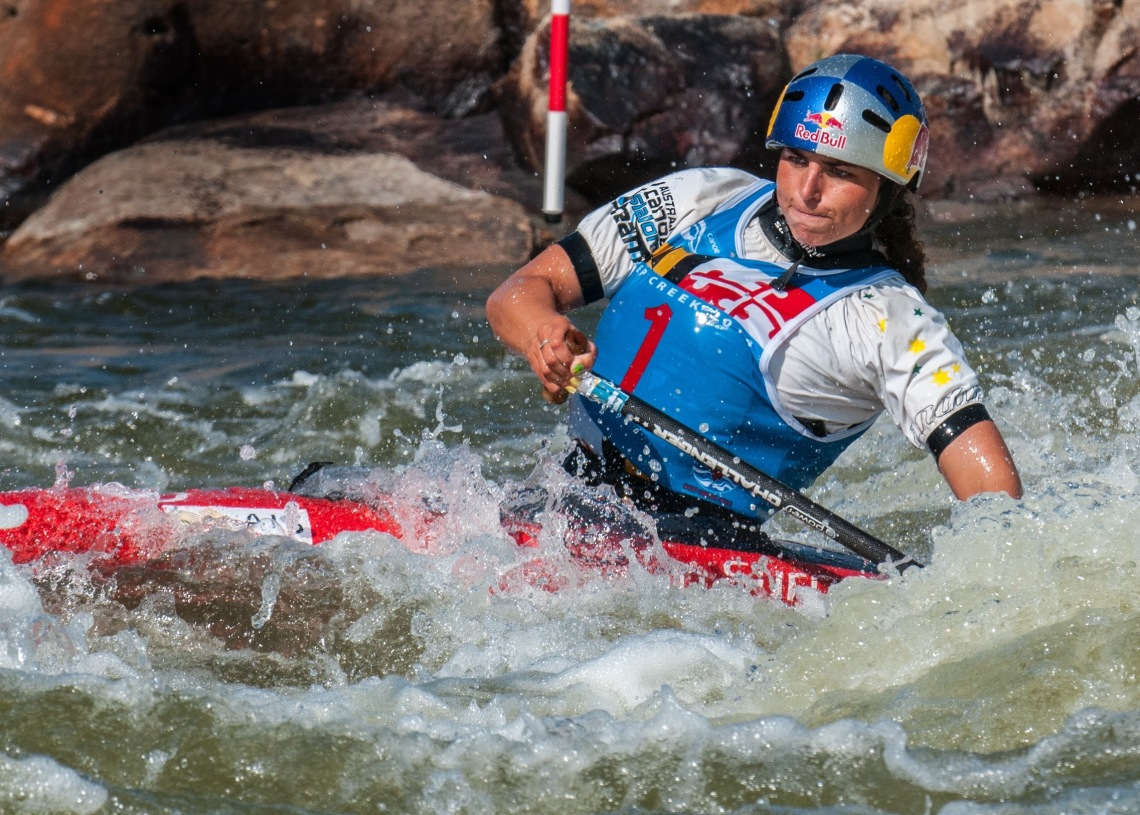 Australian Jessica Fox competes at Deep Creek 2014 in McHenry, Md. Photo by Rob Paine/Deep Creek Images/Copyright 2014