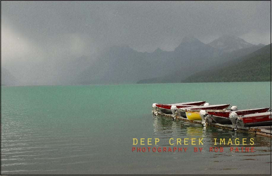 rob-paine-colored-boats-west-glacier